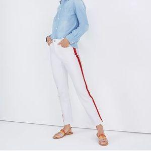 Madewell Stovepipe Jeans White: Tuxedo Stripe